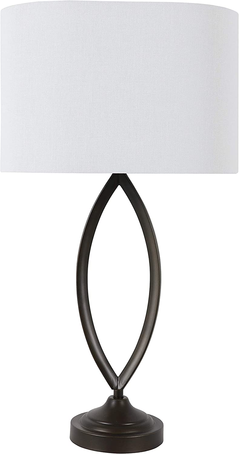 Decor Therapy Sculpted Table Lamp, Bronze