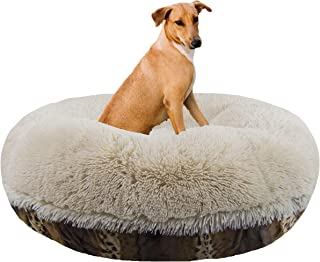 product image for Bessie and Barnie Signature Wild Kingdom / Blondie Luxury Shag Extra Plush Faux Fur Bagel Pet / Dog Bed (Multiple Sizes)