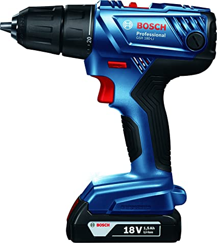 Bosch GSR 180-LI 18V Cordless Screwdriver (Blue) Screw Guns & Power Screwdrivers at amazon