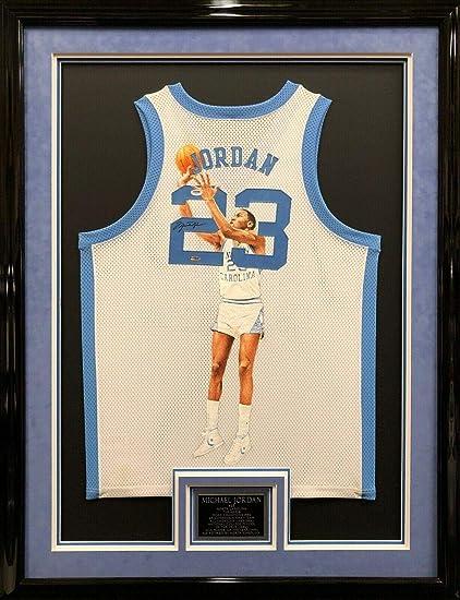 watch e35fb 08100 Michael Jordan Signed Jersey - Framed Painted - Upper Deck ...