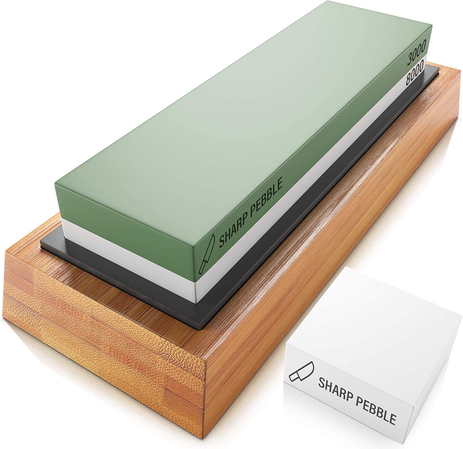 Sharp Pebble Premium Sharpening Stones 2 Side Grit 3000 8000