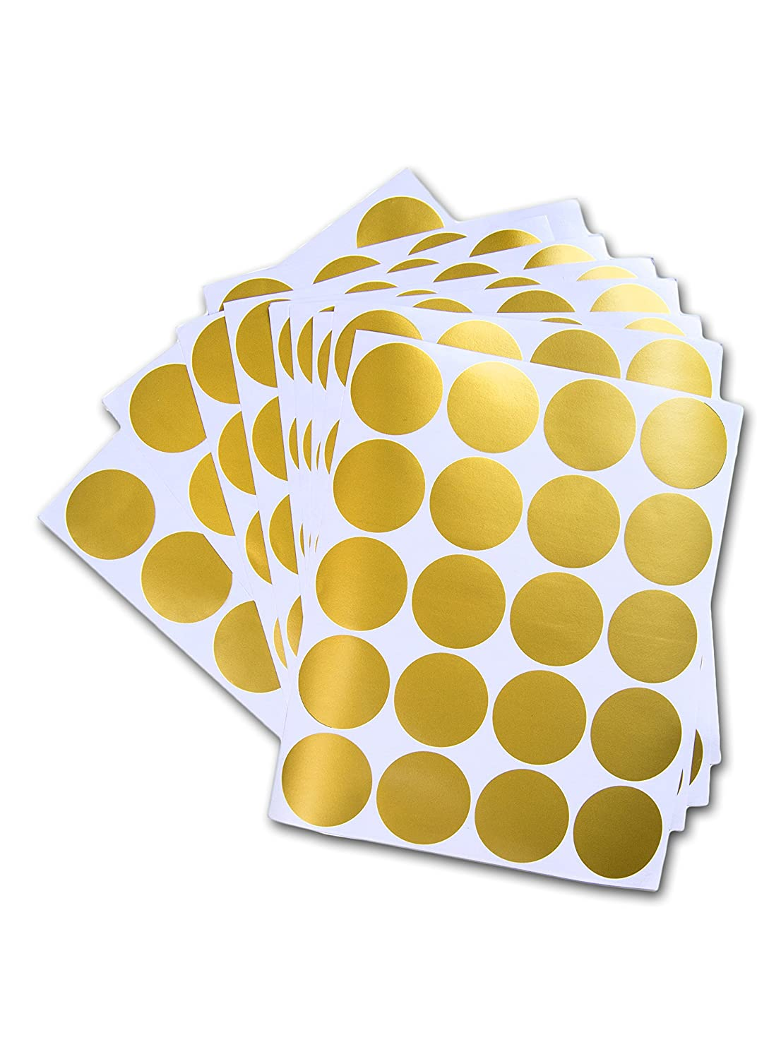 Amazon.com: Posh Dots Metallic Gold Circle Wall Decal Stickers for ...