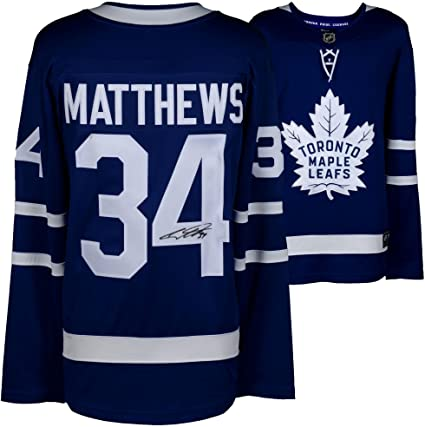 fe3b16b0209 Image Unavailable. Image not available for. Color  Auston Matthews Toronto  Maple Leafs Autographed Blue Fanatics Breakaway ...