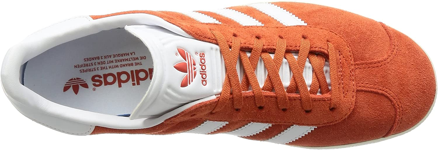 adidas Gazelle Low-Top, uniseks, volwassenen, blauw, 37 1/3 EU Oranje Future Harvest Footwear White Gold Metallic