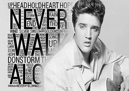 Elvis Presley - You'll Never Walk Alone - Lyrics Poster - Pop Star