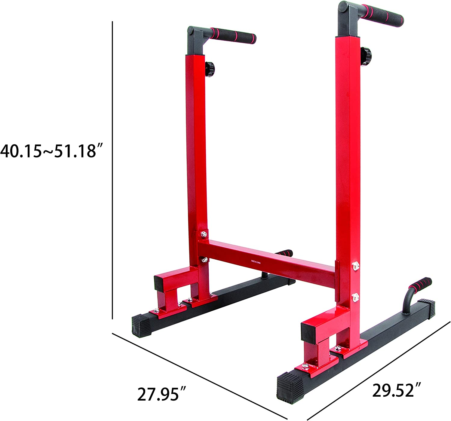 Adjustable height heavy duty dip stand