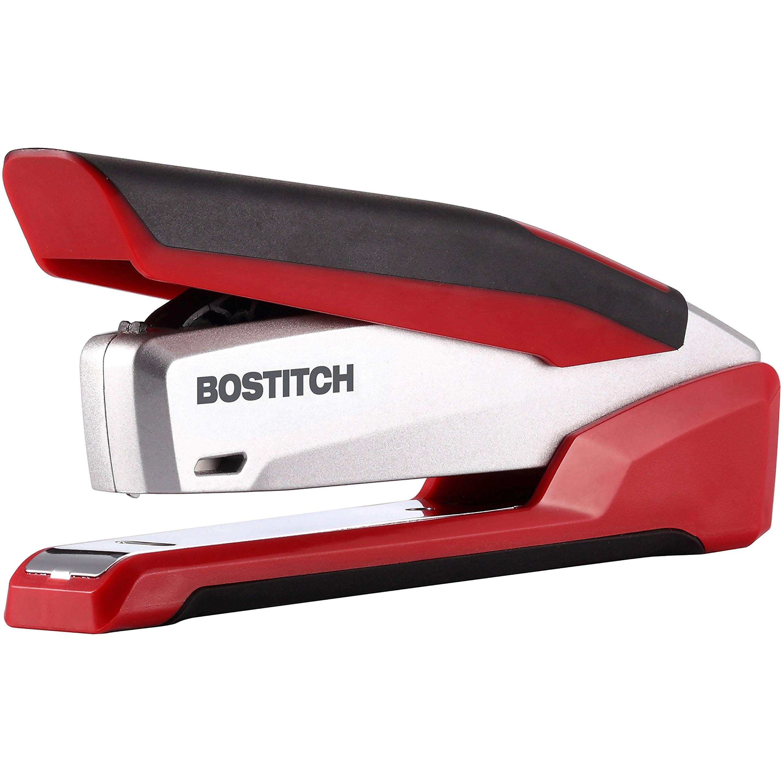 Bostitch, 1117, InPower Spring-Powered Premium Desktop Stapler, 28-Sheet Capacity, Red/Silver by Bostitch Office