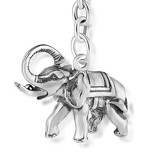 STERLL Llavero para hombre Amuleto de buena suerte Elefante ...