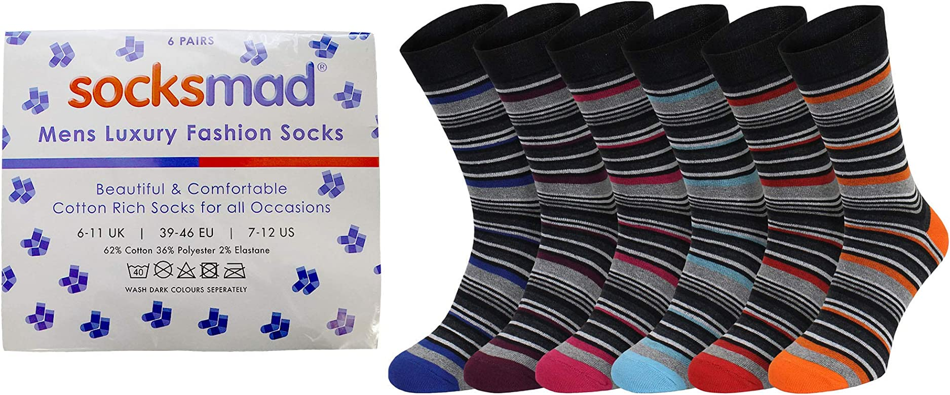 NEW 5 pairs Mens COTTON RICH Sports Socks Black with Elastane size 6-11 EU 39-46