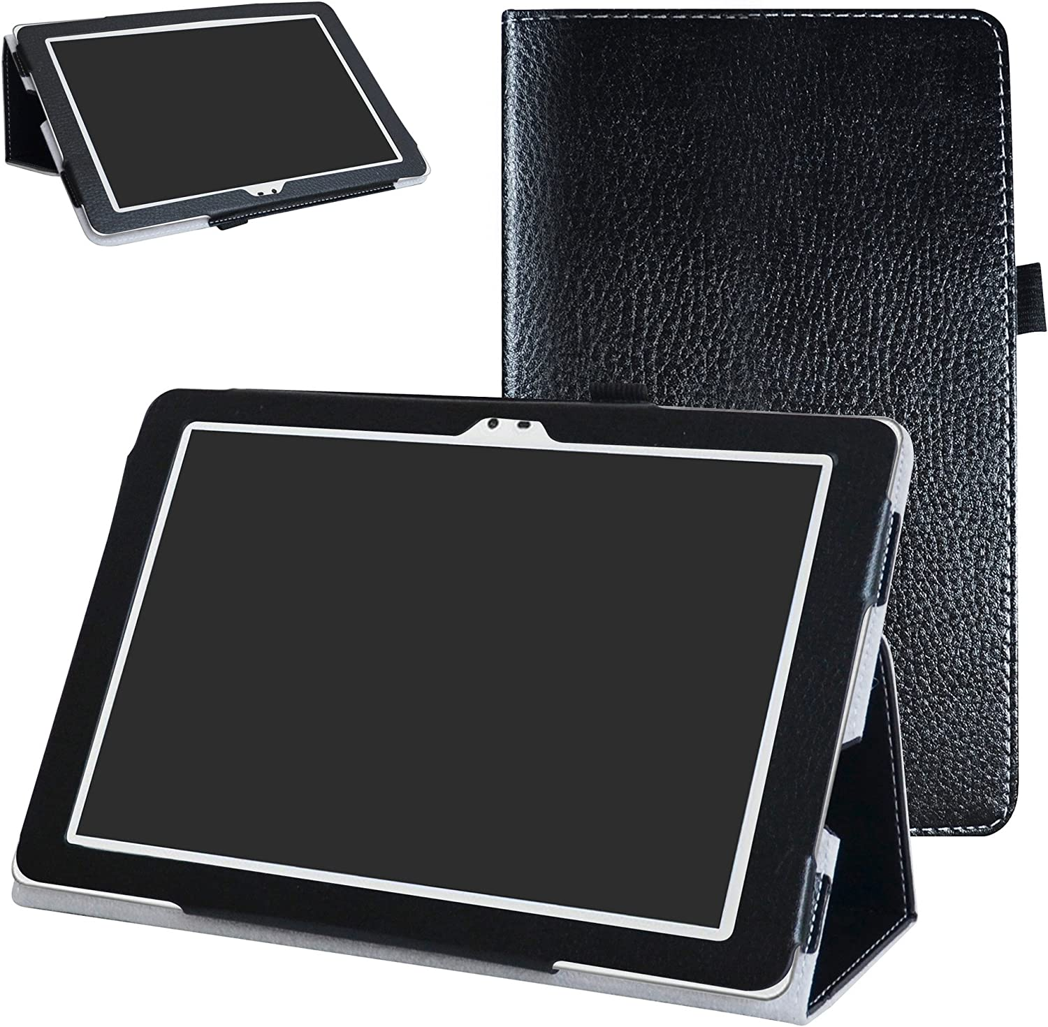 "Insignia Flex NS-P16AT10 10.1"" Tablet Case,Mama Mouth PU Leather Folio 2-Folding Stand Cover for 10.1"" Insignia Flex 10.1 NS-P16AT10 Tablet,Black"
