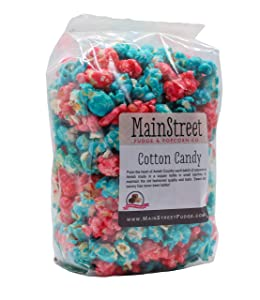 Cotton Candy Flavored Popcorn Old Fashioned Goodness 12 Ounce Bag
