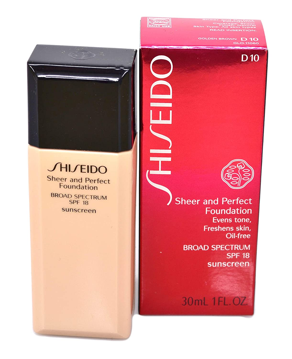 e86a3ec94 Amazon.com : Shiseido Sheer & Perfect Foundation SPF 18 - # B60 Natural Deep  Beige 30ml/1oz : Shiseido Foundation Beige : Beauty