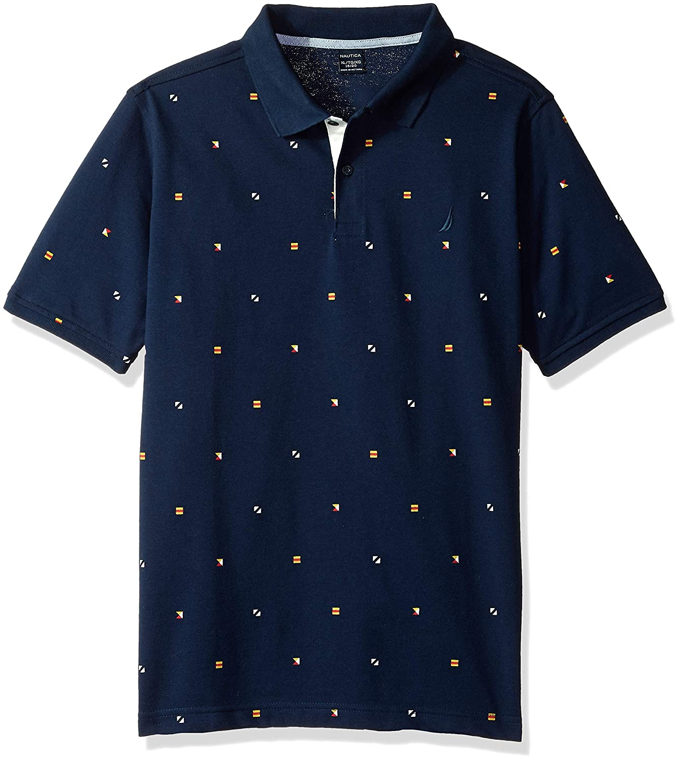 Nautica Boys' Short Sleeve Printed Polo Shirt