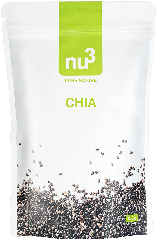 nu3 Semillas de Chia Premium - 300 g Con ácidos grasos omega ...