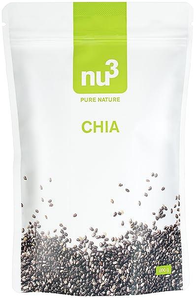 nu3 Semillas de Chía Premium | 800 g | Con ácidos grasos ...