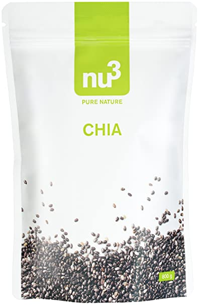 nu3 Semillas de Chía | 800g | Semillas de Chía concentradas en proteína natural, fibra