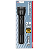 Maglite Incandescent 2-Cell D Flashlight, Black