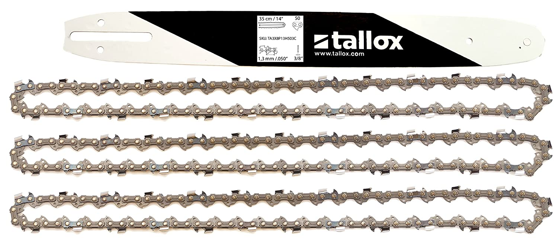 """1 Schwert 35cm für Stihl MS180 211 231 50TG 3//8/"""" 4 Sägeketten 1.3"""