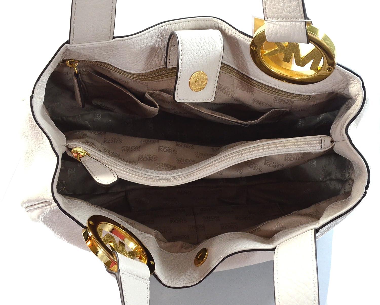 38cfcd35f6e6 Amazon.com: Michael Kors Fulton Large EW Leather Tote Vanilla: Shoes