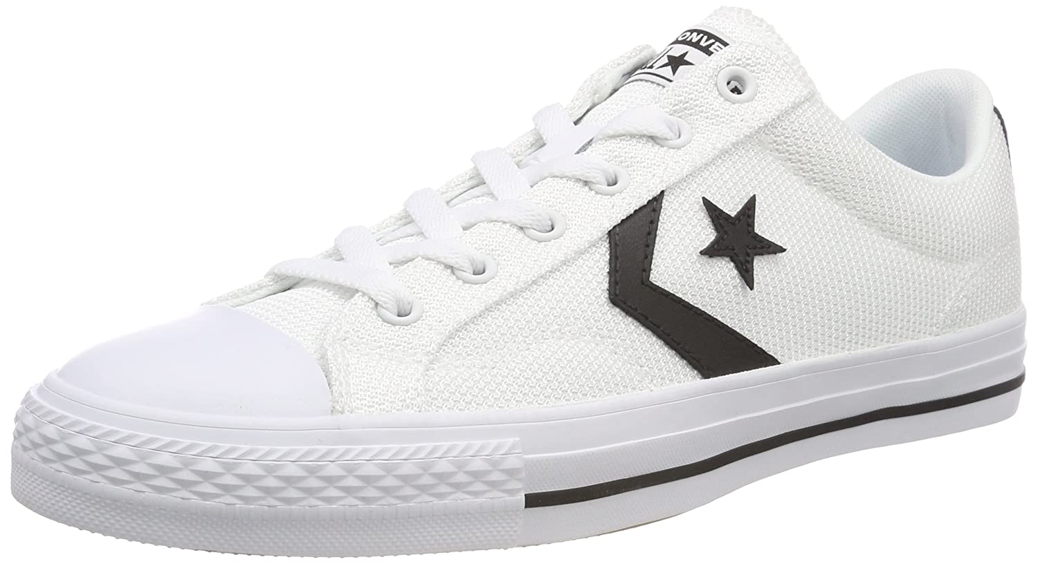 TALLA 39 EU. Converse Star Player Ox Black/White, Zapatillas Unisex Adulto