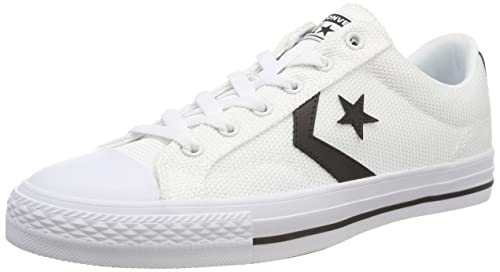 Converse Chucks 160580c STAR PLAYER OX BIANCO WHITE BLACK WHITE TG. 44