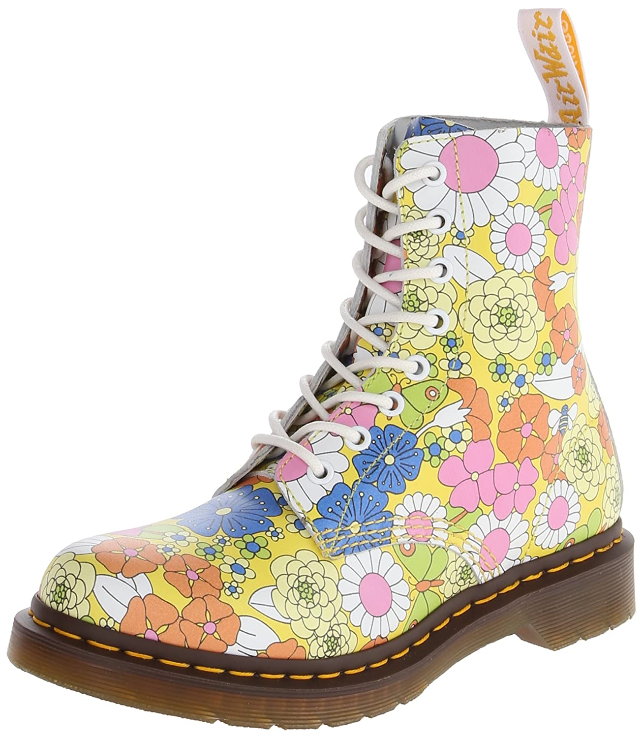 Dr. Martens Women's Pascal Leather Combat Boot B00IJNG2DO 11 M US|Yellow