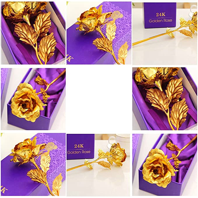 7980822b96e Buy Far Vision 24K Gold Rose with Gift Box and Carry Bag - Best Gift For  Girlfriend