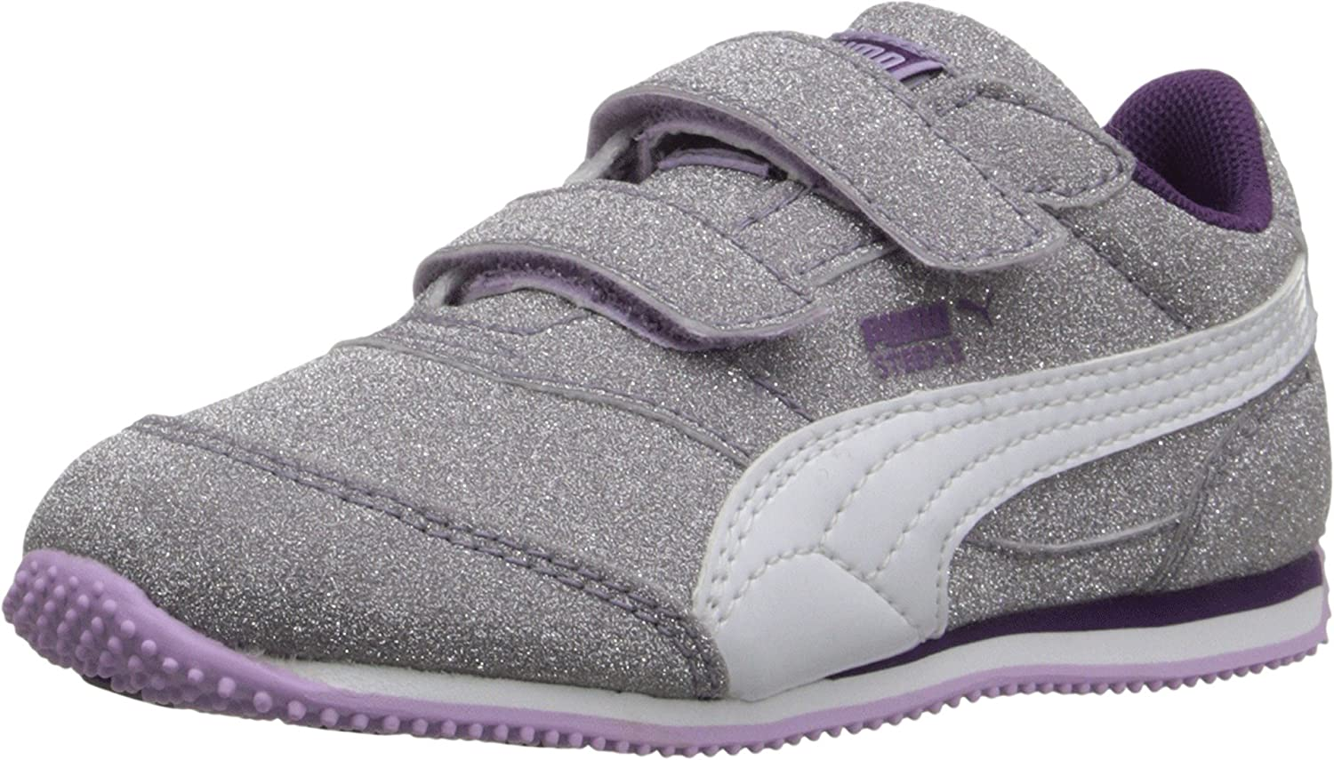 f3a716407547 Puma Steeple Glitz AOG V Kids Sparkle Sneaker (3.5 Big Kid M, Orchid  Bloom/White/Imperial Purple): Amazon.co.uk: Shoes & Bags