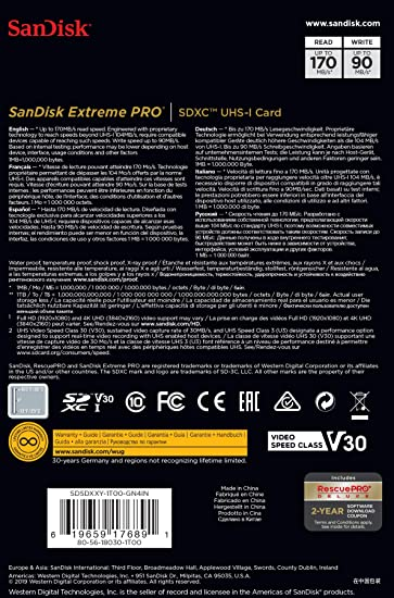 SanDisk 1TB Extreme PRO SDXC UHS-I Card - C10, U3, V30, 4K UHD, SD Card - SDSDXXY-1T00-GN4IN