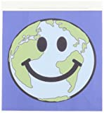3dRose ht_76666_1 Planet Earth Smiley Face-Happy