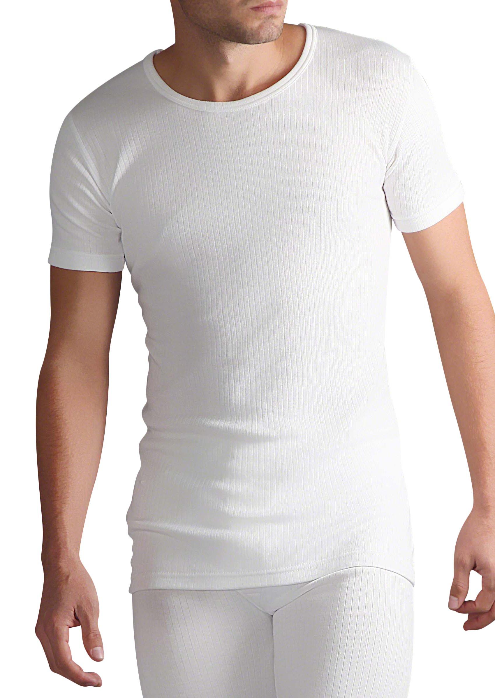 Heat Holders - Mens Winter Warm Thermal Underwear Short Sleeve Vest Top Shirt (Large: 41-43'' Chest, White)