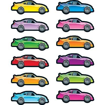 Carson Dellosa Race Cars Shape Stickers (168065): Carson-Dellosa Publishing: Office Products