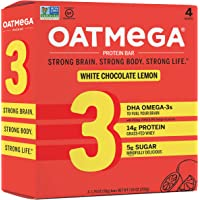 Deals on 4CT Oatmega Protein Bars Healthy Snacks w/Whey Protein 1.8oz