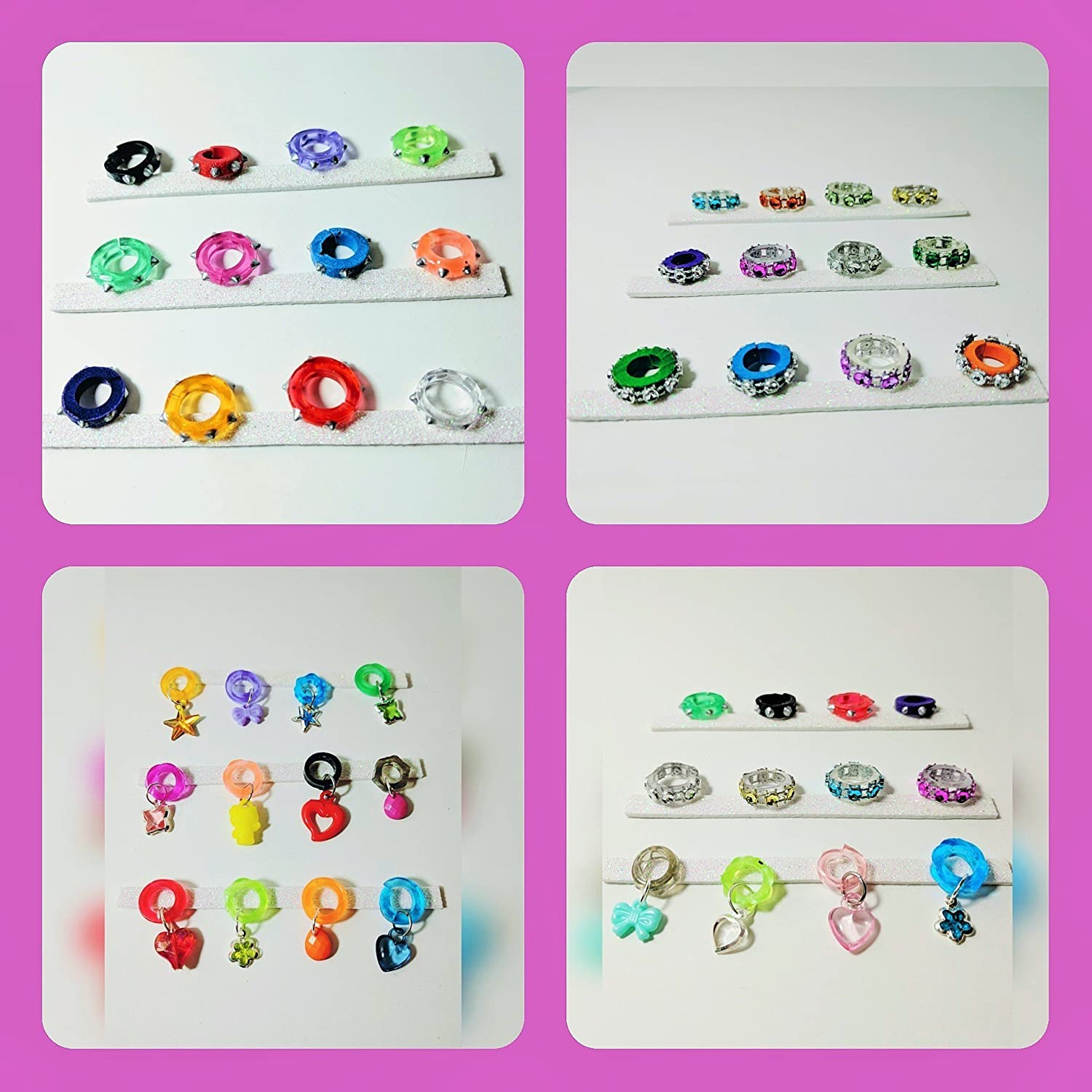 Littlest Pet Shop Custom Collars - Spiked, Jeweled, Charmed or Mixed - (12 PC) Randomly Selected LPS accessories (NO PETS)