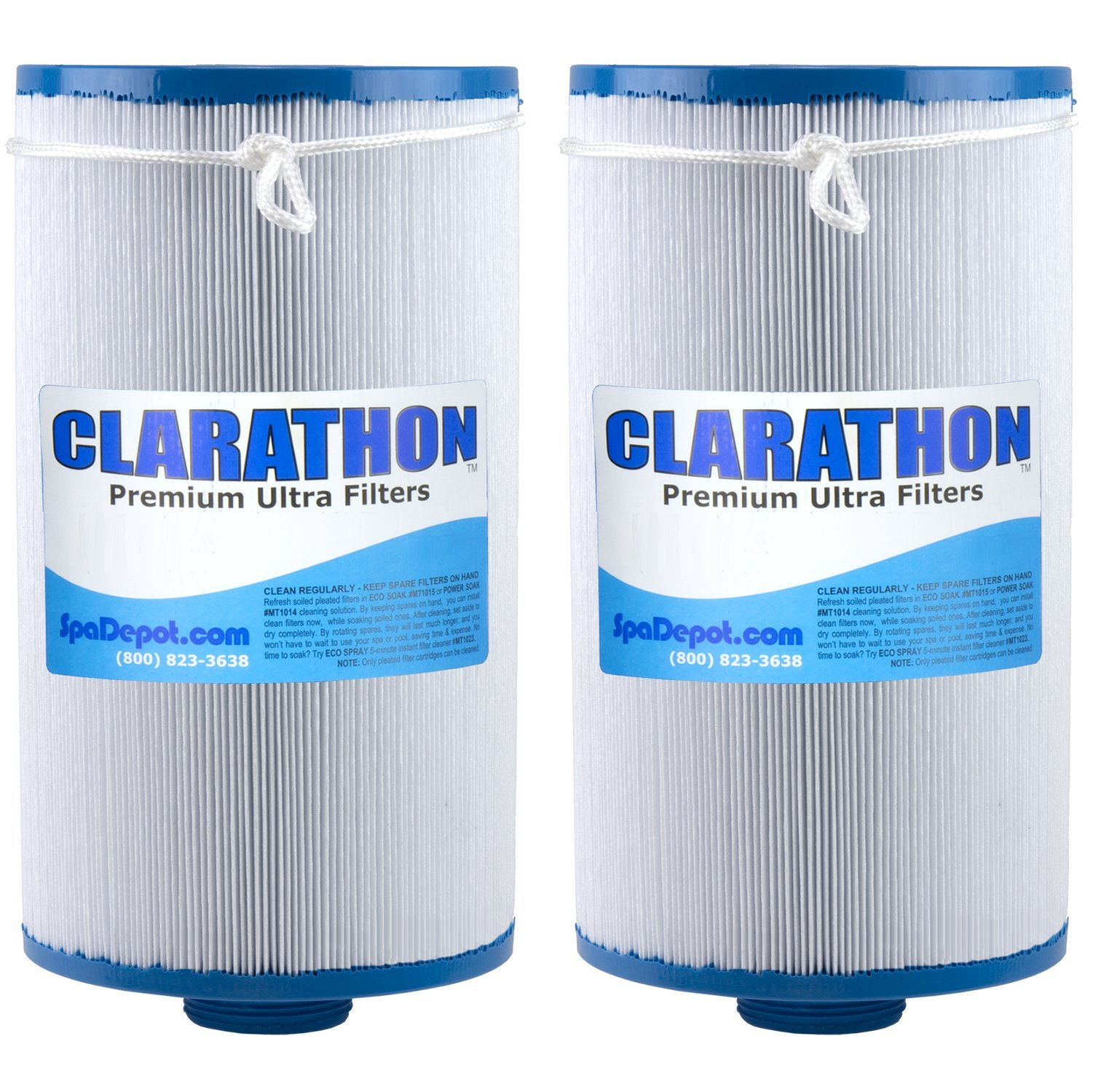 2 Replacement Filters for Lifesmart, Freeflow, AquaTerra, Hydromaster, Grandmaster, Simplicty, Bermuda Spas - 50SF [2-PACK] by Clarathon