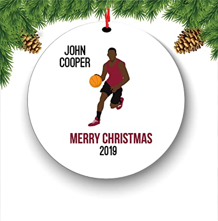 Hockey Star Personalized Christmas Tree Ornament Holiday