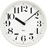 Lemnos RIKI STEEL CLOCK 電波時計 ホワイト WR08-25 WH