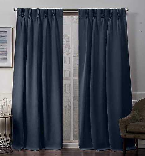 Indigo  Panel Curtain Taupe  Window curtain Zoey Vintage Indigo  Panel Curtain Cotton.unlined.Designers pattern.Choose  your sizes