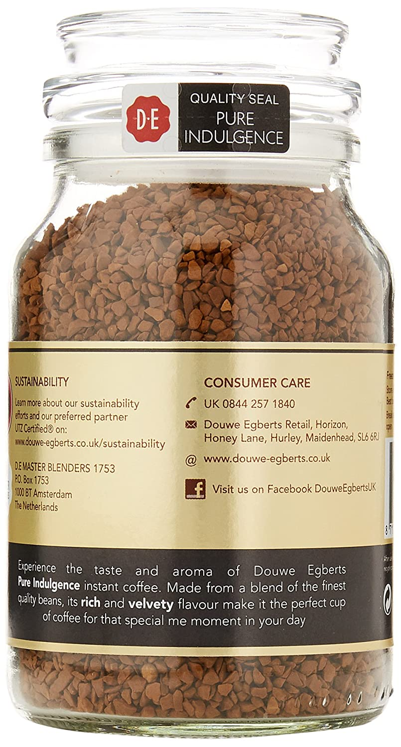 Douwe Egberts Pure Indulgence Instant Coffee 190 G Pack Of 2