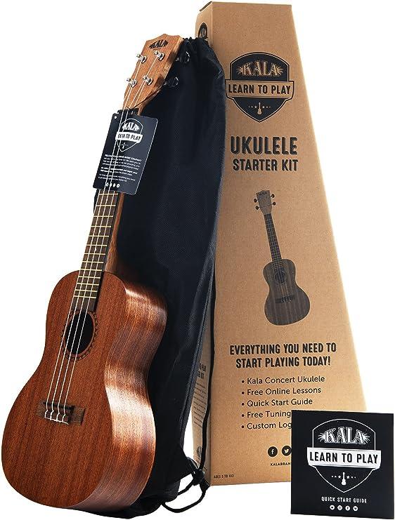 Kit de inicio oficial para aprender a tocar ukelele de concierto ...