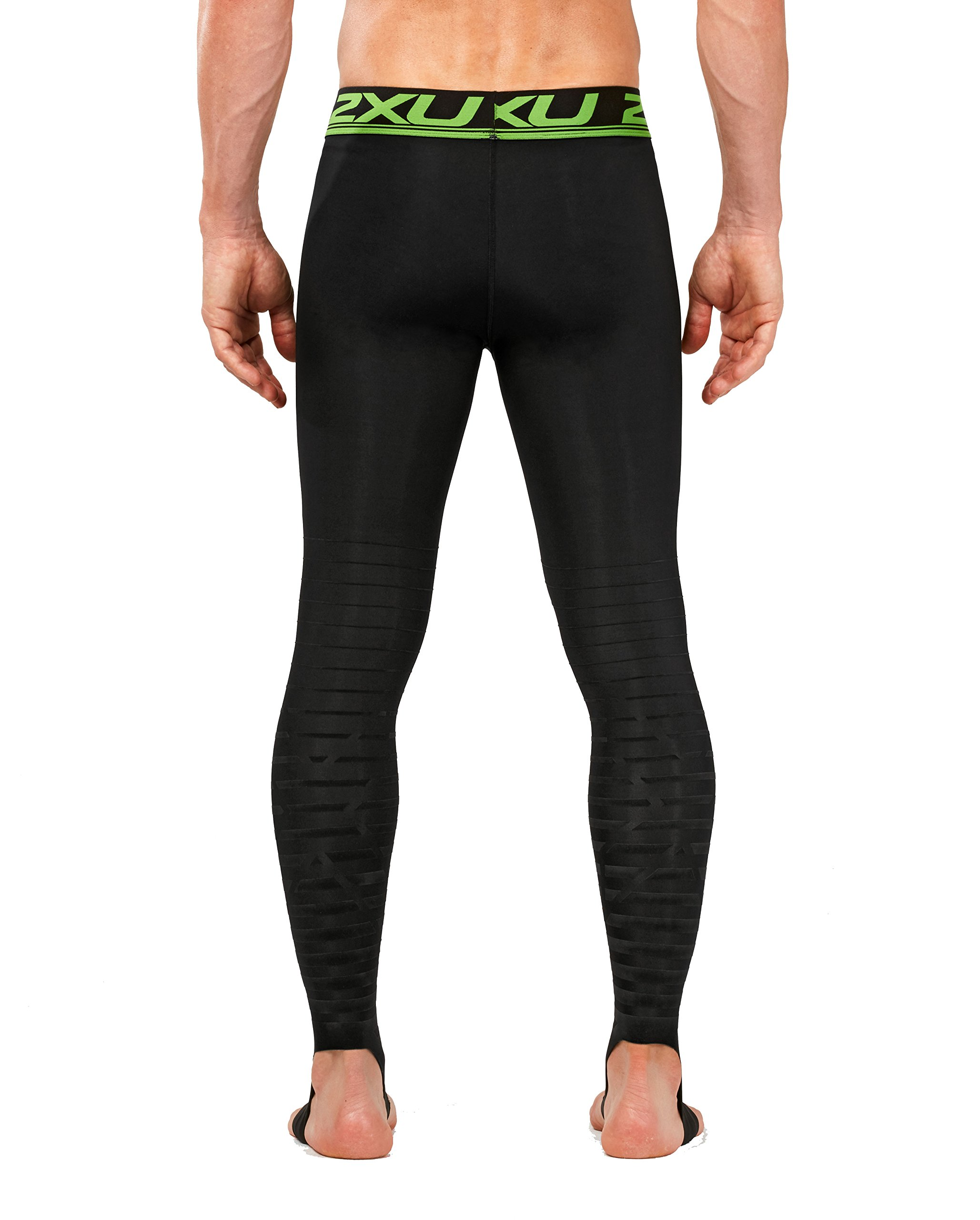 2XU Men's Elite Power Recovery Compression Tights, Black/Nero, Small/Tall by 2XU (Image #3)