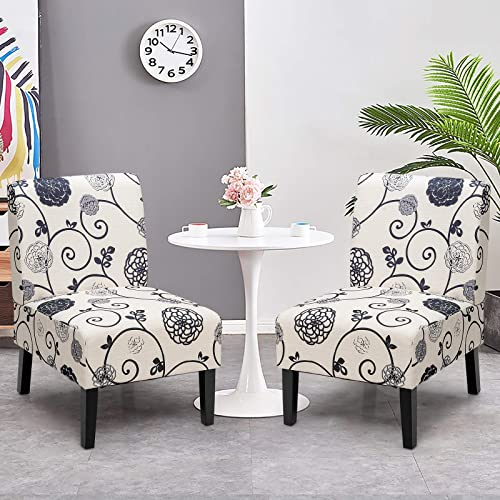 Giantex Set of 2 Armless Accent Chairs
