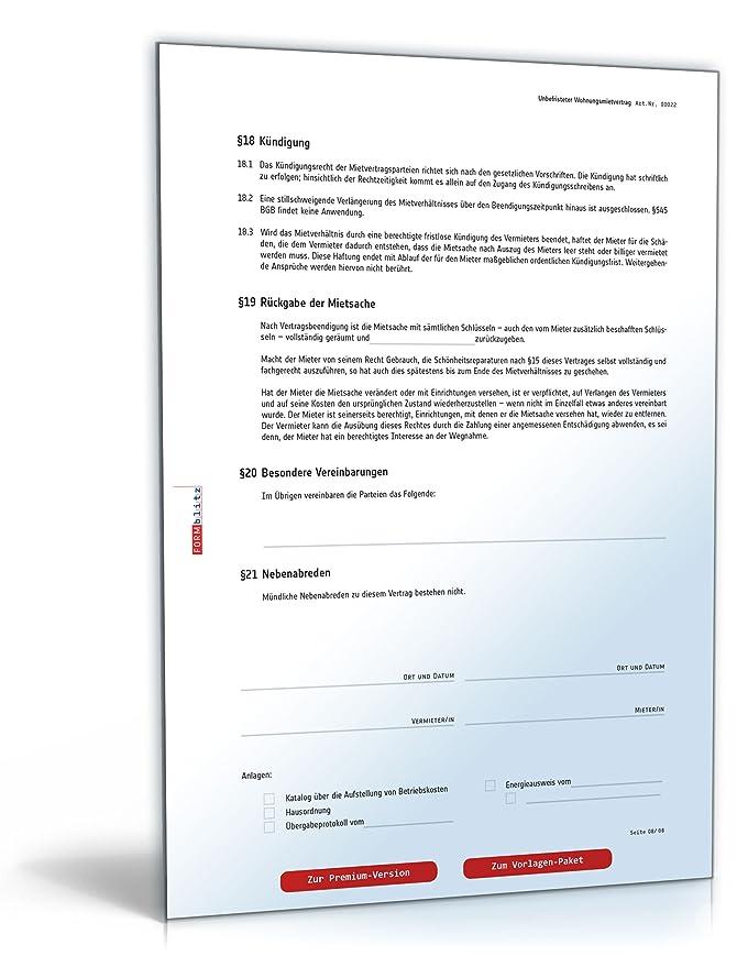 Mietvertrag Wohnung Pdf Kostenlos Zum Download Download Amazon