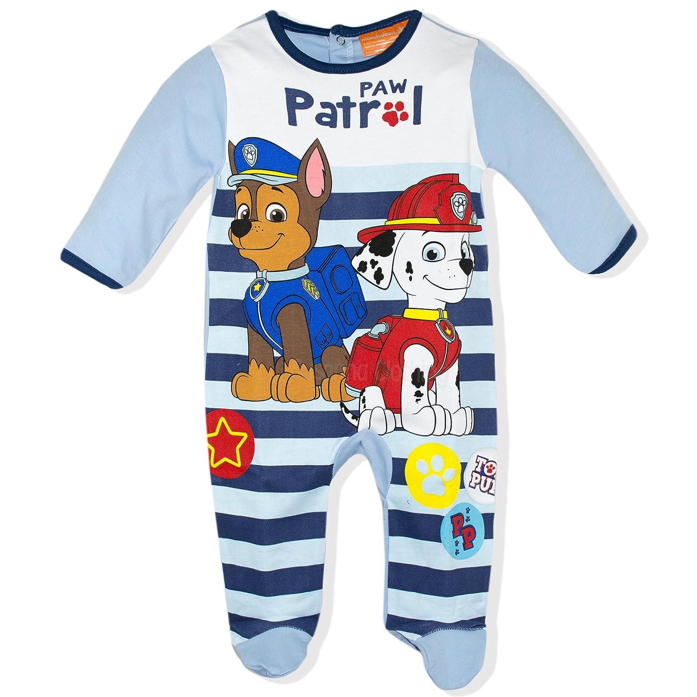 Paw Patrol Baby Babies Boys Sleepsuit Pyjamas Onesie Gift Box 100% Cotton 0-24 Months - New 2017/18