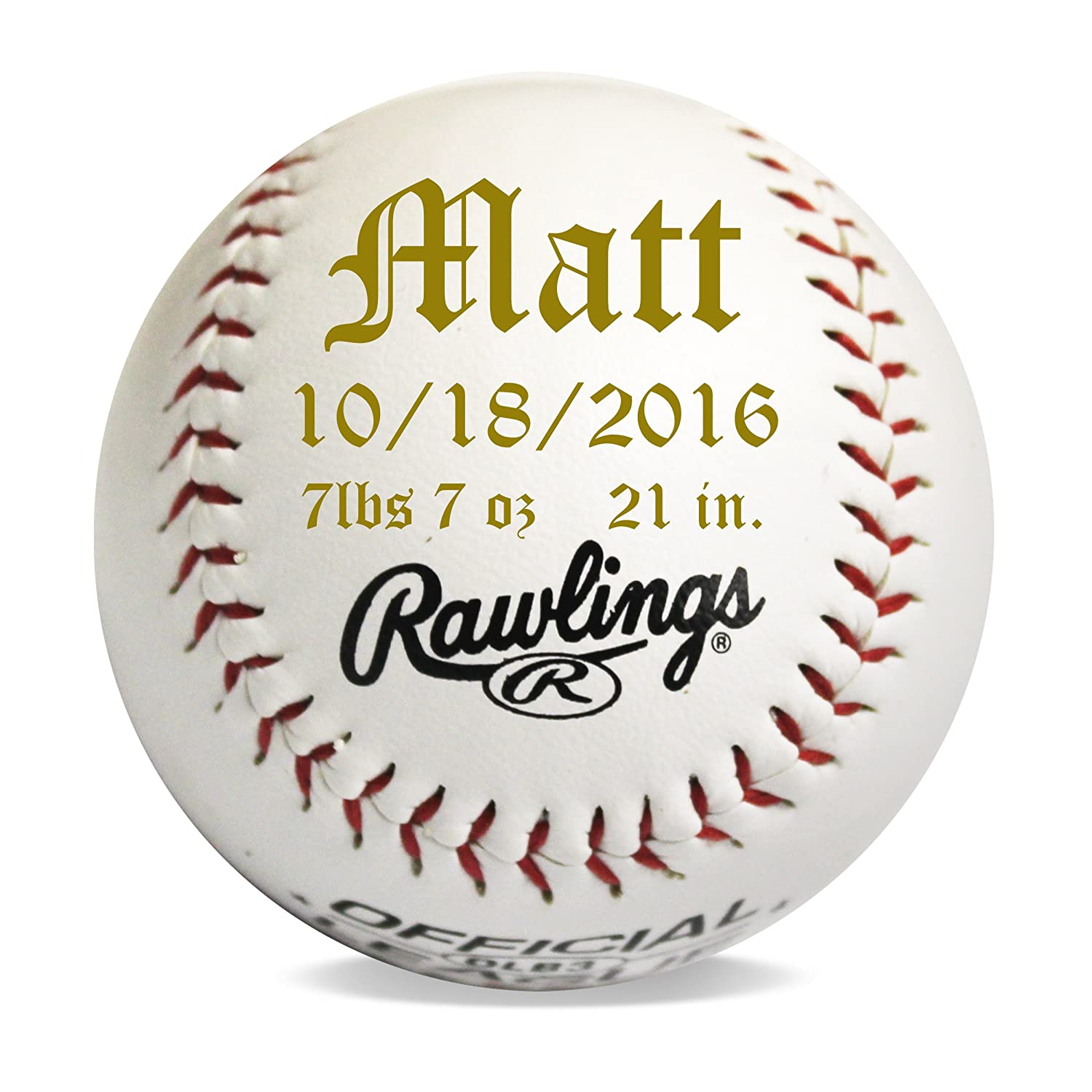 Amazon.com : Custom Personalized Baseball Gifts for Ring Bearers ...