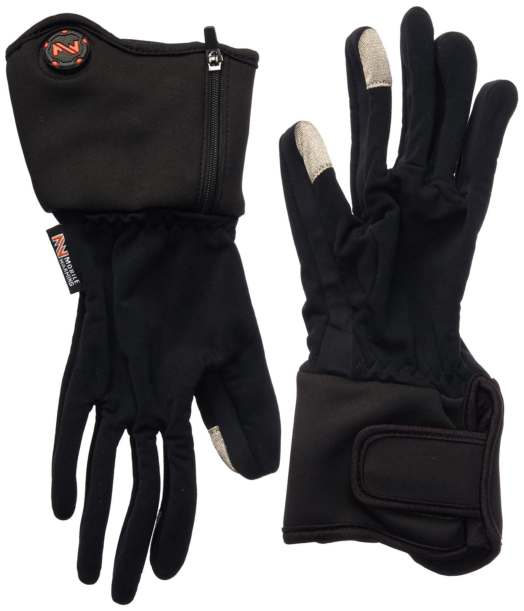 Mobile Warming Unisex-Adult Heated 7.4v Gloves Liner Black Small