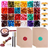 Sealing Wax, Paxcoo 785pcs Sealing Wax Kit with Wax Seal Beads, Wax Seal Stamp, Wax Seal Warmer, Wax Spoon, Envelopes…