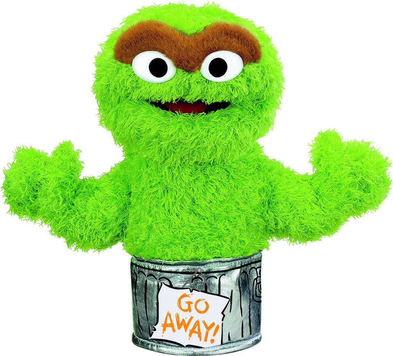 amazon com gund oscar the grouch hand puppet toys u0026 games