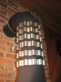 6 Stovepipe heat Reclaimer / Radiator Rings / Bands 6  Dia fuel efficient Collars & 6 Stovepipe Heat Reclaimer Radiator Rings 4