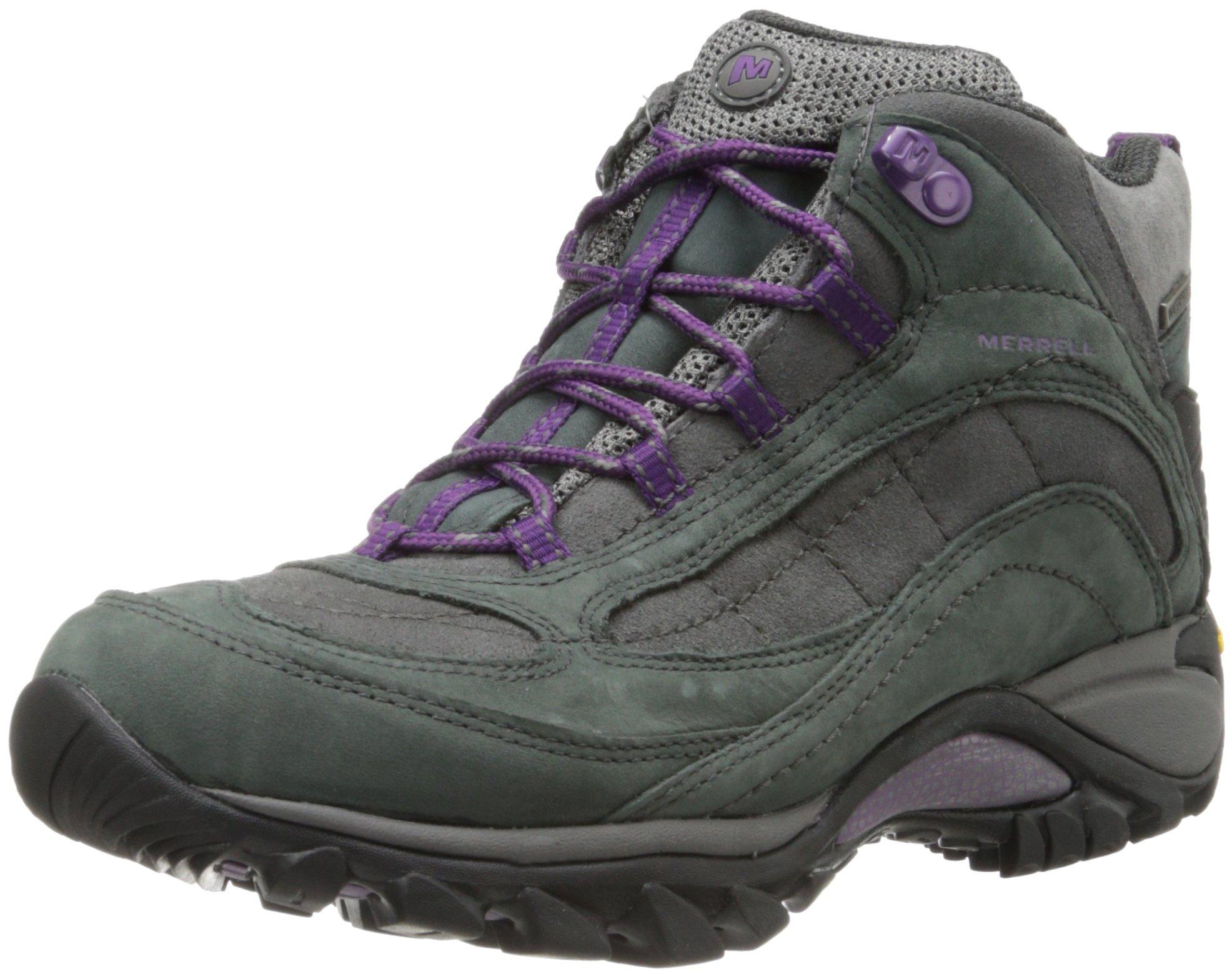 Merrell Women's Siren Waterproof Mid Hiking Boot,Granite/Purple,6 M US